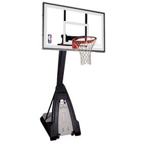 Spalding 60-Inch Glass Portable Basketball Hoop (Model 74560)