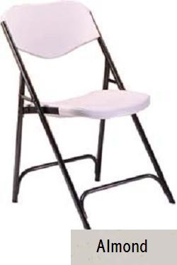 SO 4 PACK Lifetime 8000 Accent Almond Folding Chair