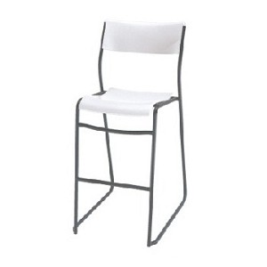 Lifetime Bistro Cafe Stools - 80054 White Chair 14 Pack