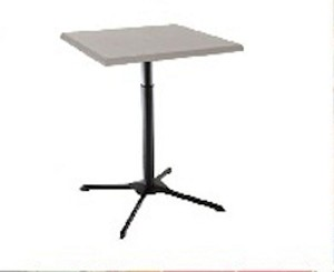 Lifetime Bistro Table Inch White Adjustable Height Cafe Table - Adjustable height cafe table