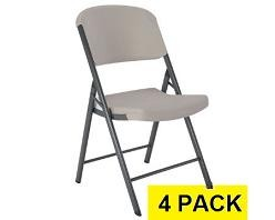 Lifetime Folding Chairs - 80186 Putty Colored - 4 Pack