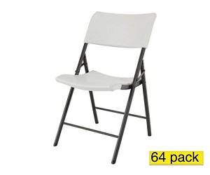 Lifetime Chairs - 80262 Almond Plastic Chairs - 64 Pack