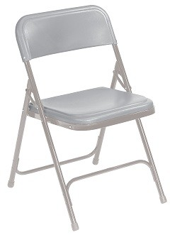 4-Pack 800 Series NPS Plastic Folding Chair