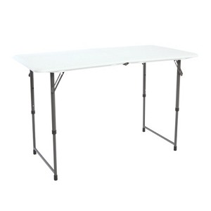 Lifetime Adjustable Leg Folding Table 80218 4-Foot Trade Show Table