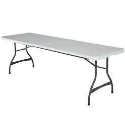 8 ft. Commercial Nesting Lifetime Plastic Table 1-Pack 280299 (White Granite)