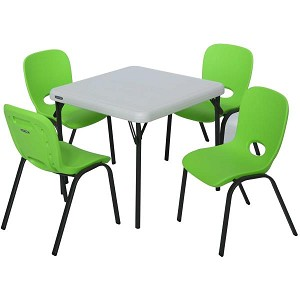 Lifetime Children's Table and Stacking Chairs 80500 1 Table 4 Chairs