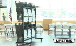 Lifetime Hanging Chair Cart with 72 Chair Capacity