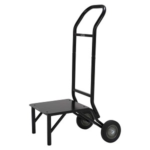 Lifetime 80527 Stacking Chair Storage Dolly Black Rack Cart