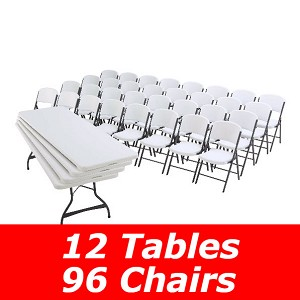 80543 Lifetime 96-Pack of Chairs and 12-Pack of 8' Tables
