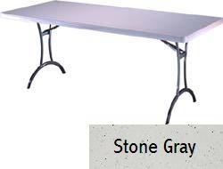 SO 8064 26 PACK Lifetime Accent 6 ft Stone Gray Folding Table