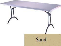 SO 8065 26 PACK Lifetime Accent 6 ft Sand Folding Table