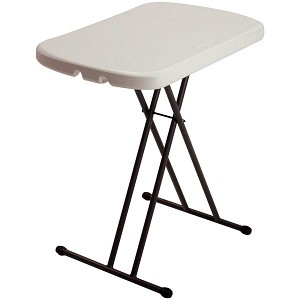Lifetime 26-inch Personal Folding Table 80830 Almond Color Adjustable Height
