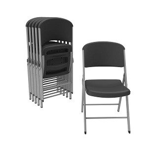 Lifetime Classic Folding Chair 80844 Black Color 6 Pack