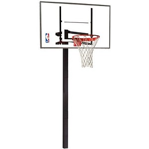 Spalding Inground Basketball Hoop - 88454G 54 in. Glass Backboard System