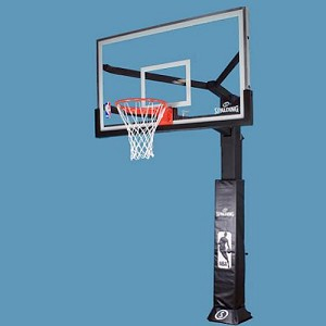 Spalding Arena View Basketball System 88724AGP 72 in. Glass Backboard