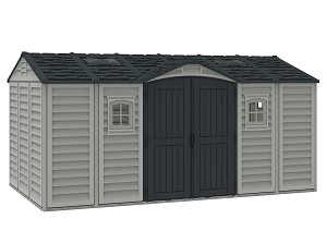 Duramax 40216 Apex Pro 15.5 x 8 Storage Shed with Foundation Kit