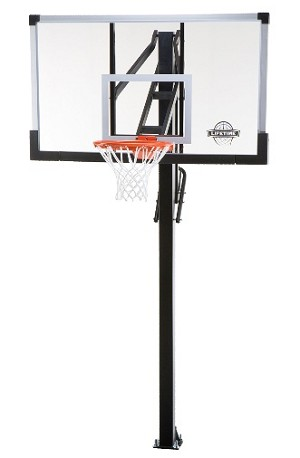 Lifetime Basketball Hoop - 90013 60-inch Glass Backboard System