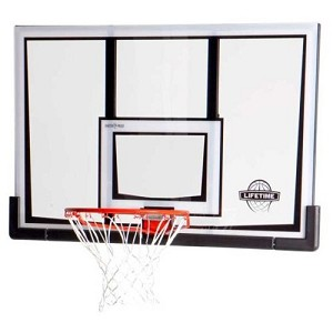 Lifetime Basketball Backboard 90087 52-in Backboard Slam-It Rim Combo