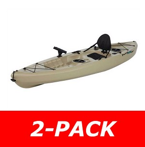 2-Pack - Lifetime Tamarack 90508 Muskie Angler 10-foot Sit On Top Fishing Kayak