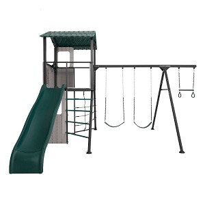 Lifetime 90913 Adventure Clubhouse Swing Set with Slide and Swings