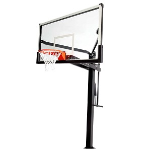 Lifetime 90964 72in Tempered Glass Bolt Down Adjustable Mammoth Basketball System