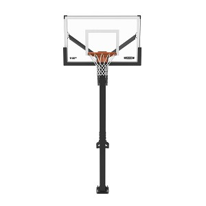 Lifetime Mammoth 90965 54 Inch Tempered Glass Backboard Bolt Down Basketball Hoop