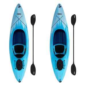 Lifetime 91068 Cruze 100 Sit-Inside Sky Fusion Kayak 2 Pack with Paddles