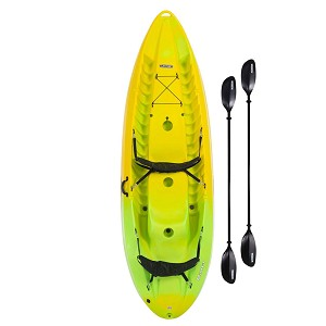 Lifetime 91071 Manta 100 Yellow Lime Tandem Kayak (Paddles Included)