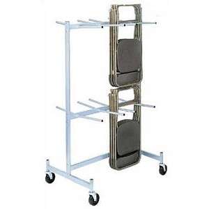 Folding Chair Storage Cart  Truck Raymond Products Compact Size 2 Tier