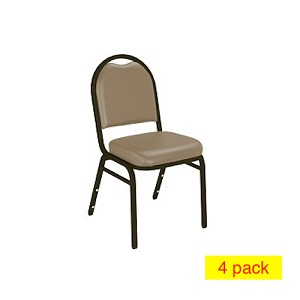 Vinyl Stacking Chairs - 9200V National Public Seating Dome-Back 4 Pack
