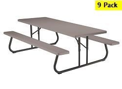 SO 2180 (9 PACK) Lifetime 8 ft Picnic Tables
