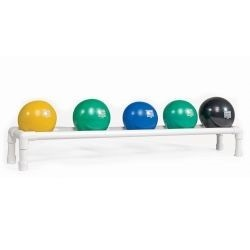 Exercise Power Systems Soft Touch 5 Medicine Ball Set w/ Storage Rack
