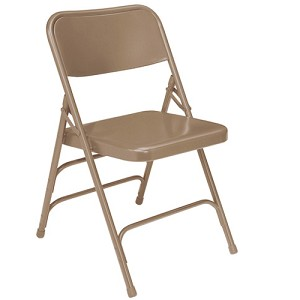 300 Series National Public Seating Metal Chair Triple Brace