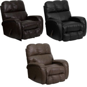 Home Furniture - AM-9850-GG Bentley Leather Chaise Recliner