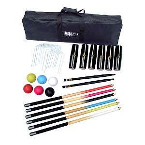 Hathaway Deluxe 6-Player Croquet Set