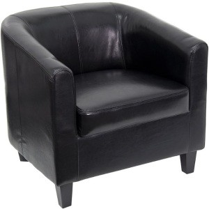Leather Office Guest Chair - BT-873-BK-GG Black Reception Chair