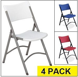 Folding Chairs - National Public Seating Bt-Chair - 4 Pack