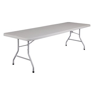 Blow-Molded Plastic Folding Tables BT3096 Gray Plastic Top 5 Pack