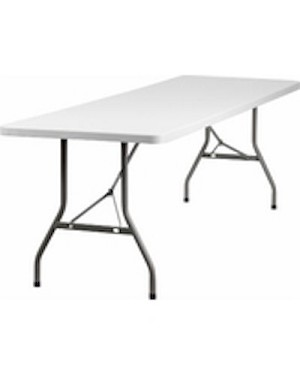 Plastic Folding Tables - ACT Bm-3096 8 ft. Gray Table Top - 5 Pack