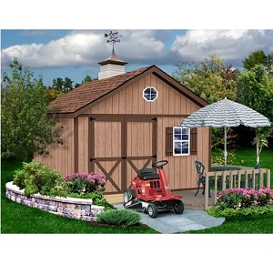 Brandon 12x16 Best Barns Wood Shed Barn Kit