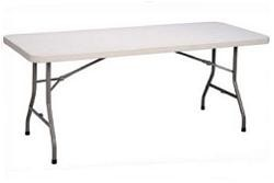 Correll Folding Tables Gray Blow-Molded Plastic Table CP3096 30x96 In