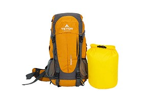 TETON Sports Canyon2100 Orange Canyoneering Backpack + 20 Lb Dry Bag