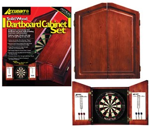 Bristle Dartboards - Accudart Solid Pine Cabinet Set - D4223