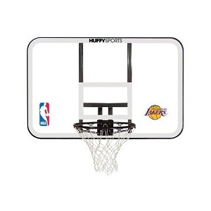 Spalding Backboard and Rim Combo 44-in E79Lals Los Angeles Lakers Logo