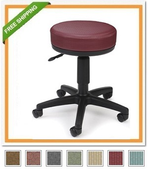 E902 Utility Stool Elements Upgraded Fabric Stool
