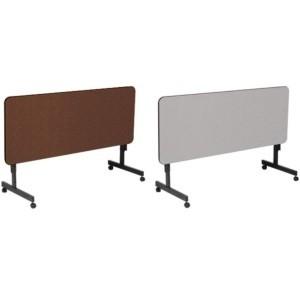 correll flip top folding tables ft2460m 5 foot melamine top table. Black Bedroom Furniture Sets. Home Design Ideas