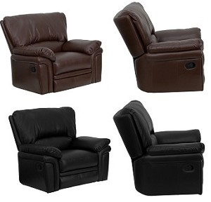 Leather Recliner Chair - HU-21029 Extra-Wide Leather Seating