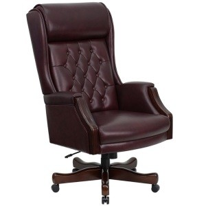 Leather Executive Chairs KC-C696TG-GG High Back Tufted Office Chair