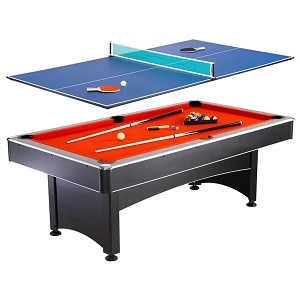 Maverick NG1023 7-foot Pool and Table Tennis Multi Game with Red Felt and Blue Table Tennis Surface