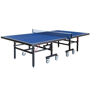 Back Stop 9-Foot Table Tennis with Foldable Halves for Individual Play